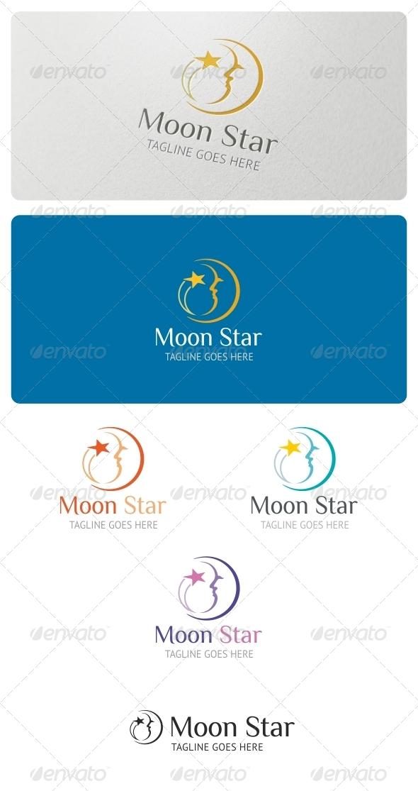 Moon Star Logo Template