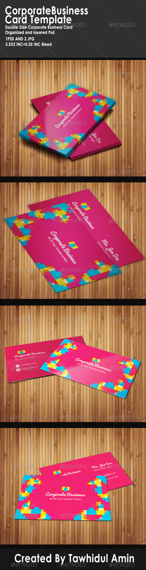 GraphicRiver Corporate Business Card Template 1 4719895