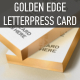 Gold Edge Letterpress Bcard Mock-up