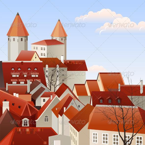 GraphicRiver Town Landscape 4789795