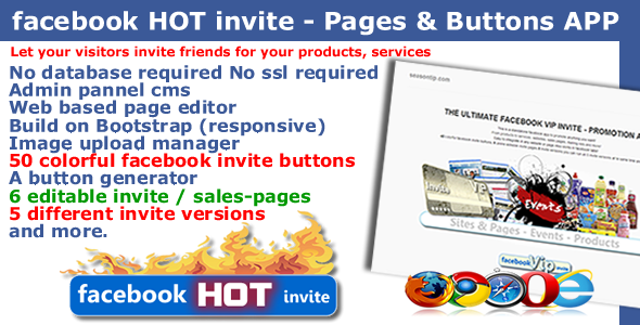 CodeCanyon Facebook HOT invite Pages and Buttons APP 4789805