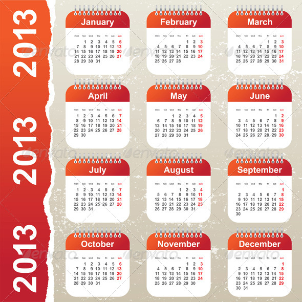 GraphicRiver Calendar 2013 4789813