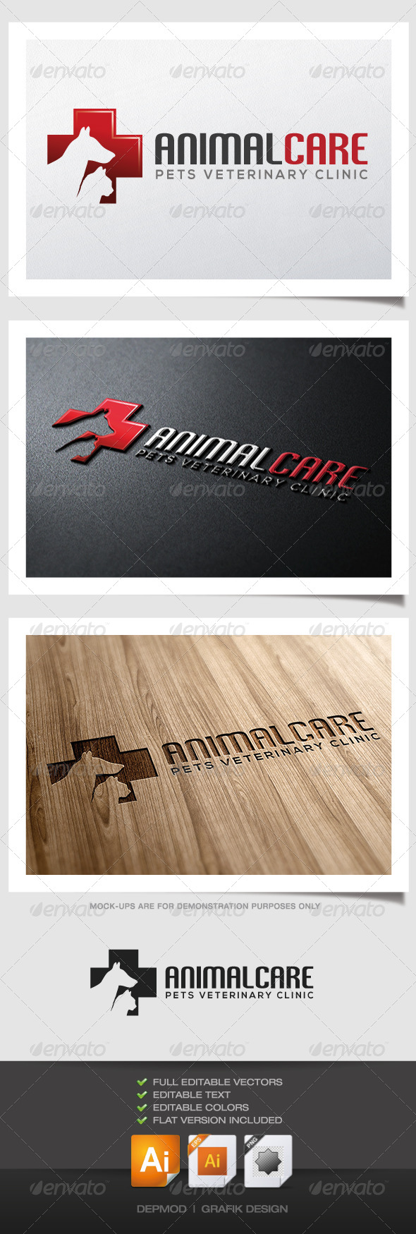 GraphicRiver Animal Care Logo 4789875
