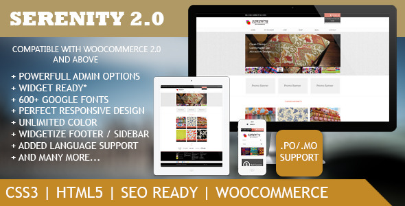 Serenity - Premium WordPress eCommerce Theme