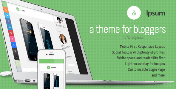ThemeForest Ipsum Social Blogging Responsive Wordpress Themeu 4745604
