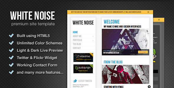 ThemeForest White Noise - HTML5 Template RiP