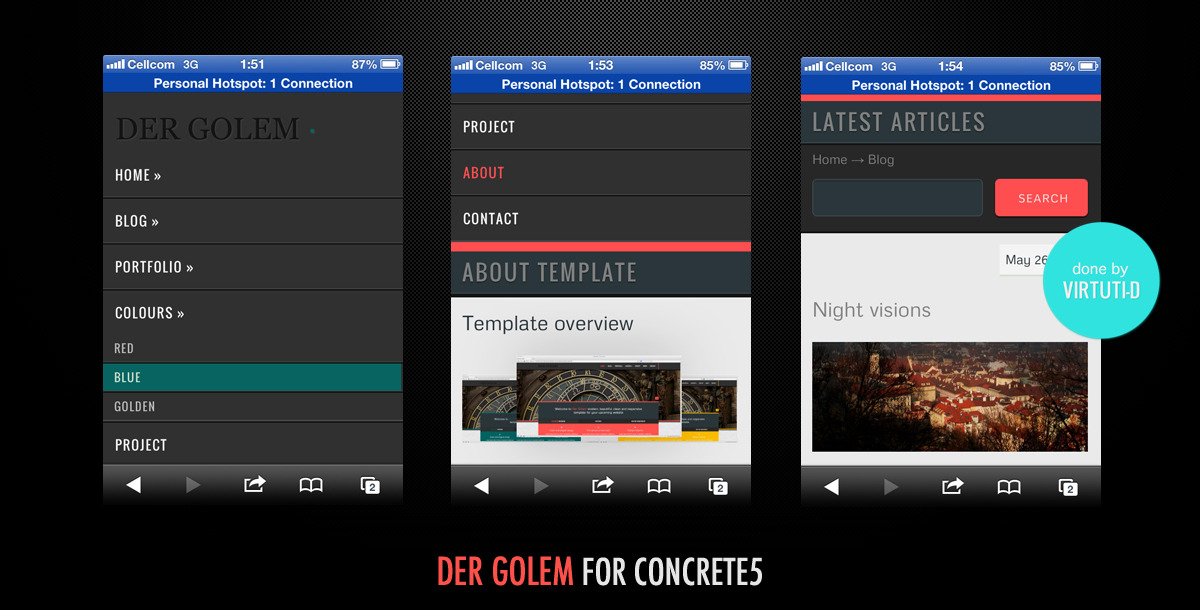 Der Golem–Multipurpose Theme For Concrete5