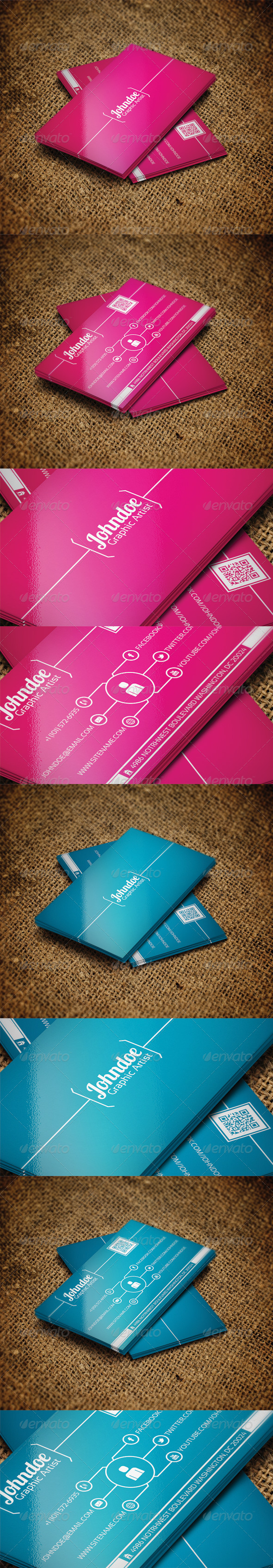 Colourful Business Card Set V2 - Creative Business Cards