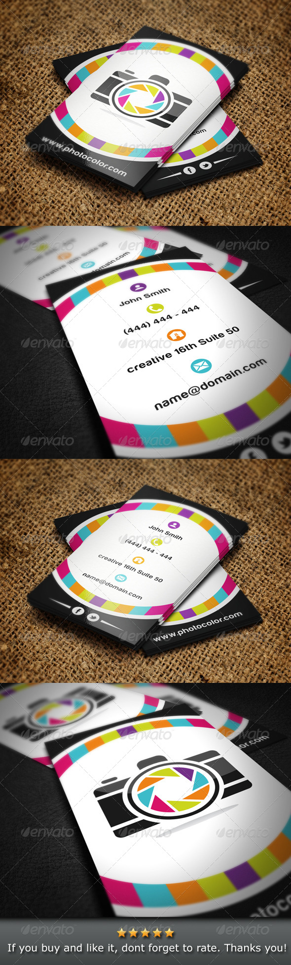 GraphicRiver Photographer Business Card 4790419