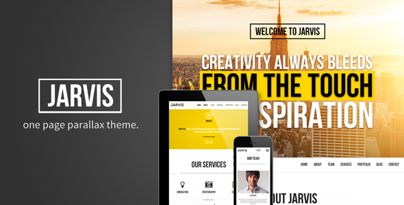 ThemeForest Jarvis Onepage Parallax Theme 4773311