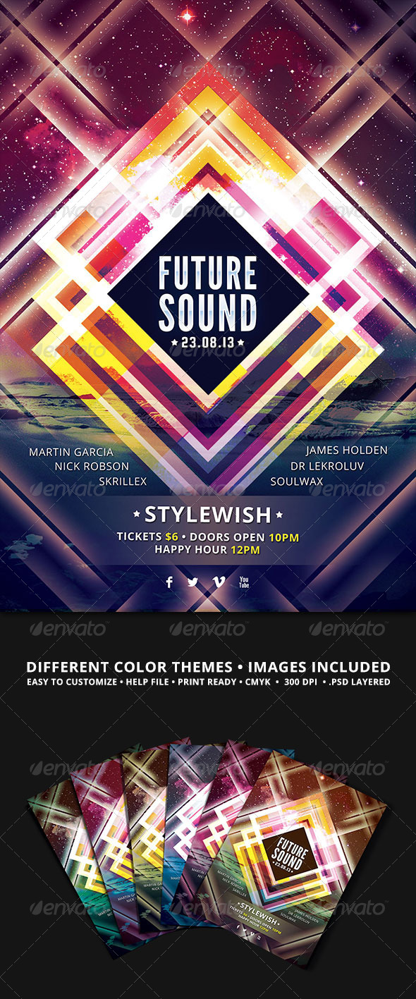 GraphicRiver Future Sound Flyer 4720278