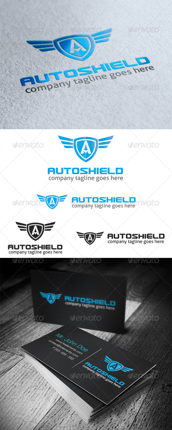 GraphicRiver Auto Shield Logo Letter A 4790542