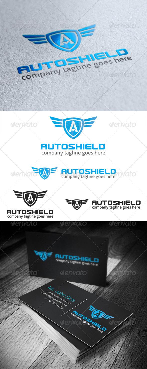 Auto Shield Logo Letter A - Letters Logo Templates