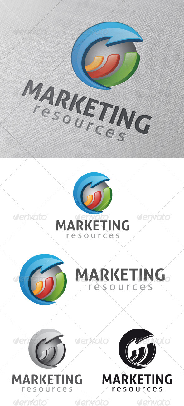 Marketing Stats Logo Template