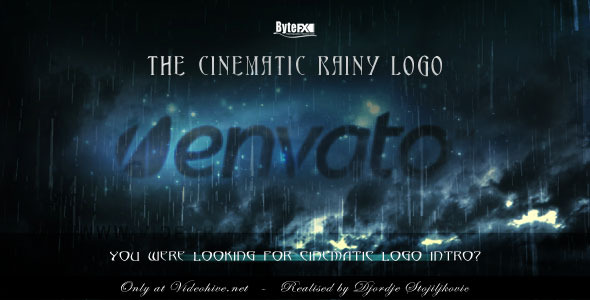 After Effects Project - VideoHive The Cinematic Rainy Logo 500309