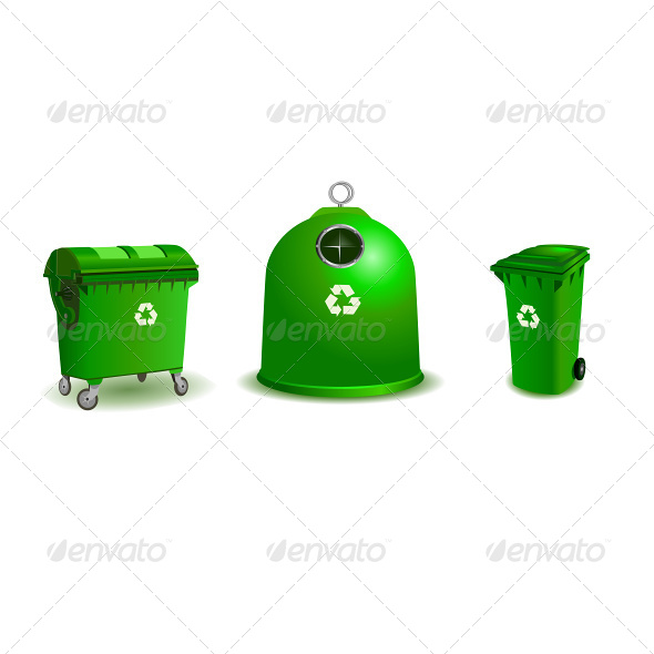 GraphicRiver Recycle Bins Two Bigger and Small One 4791036