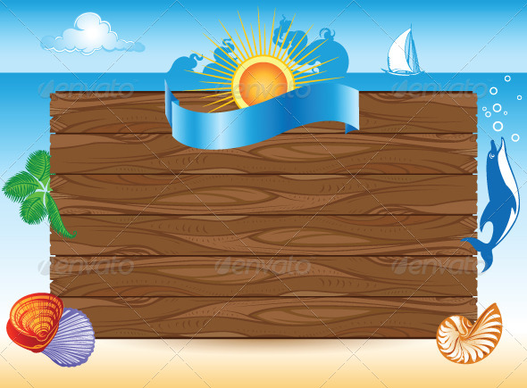 GraphicRiver Sea Travel Background with Illustrations 4791523