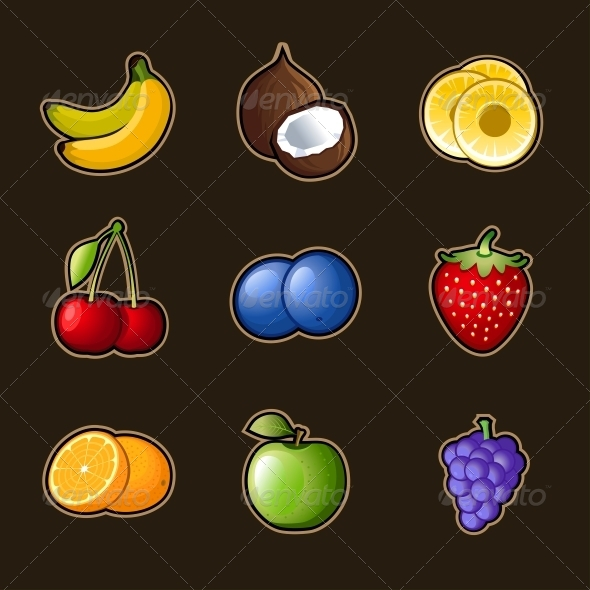 GraphicRiver Set Fruit Icons 4791877