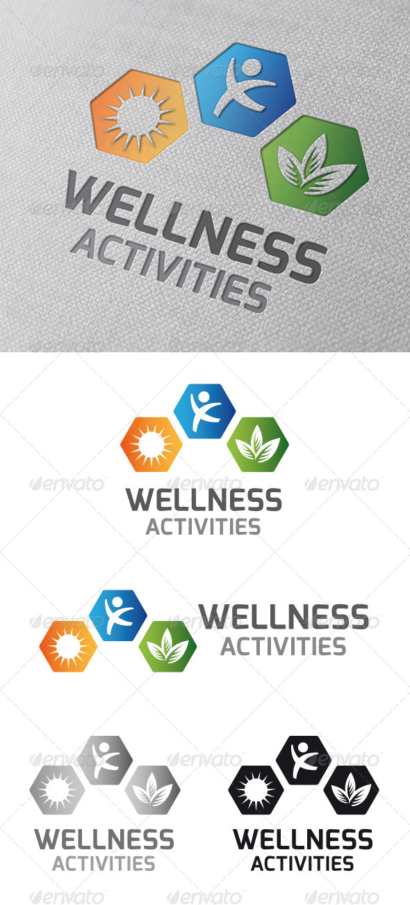 GraphicRiver Wellness Activities Logo Template 4792291