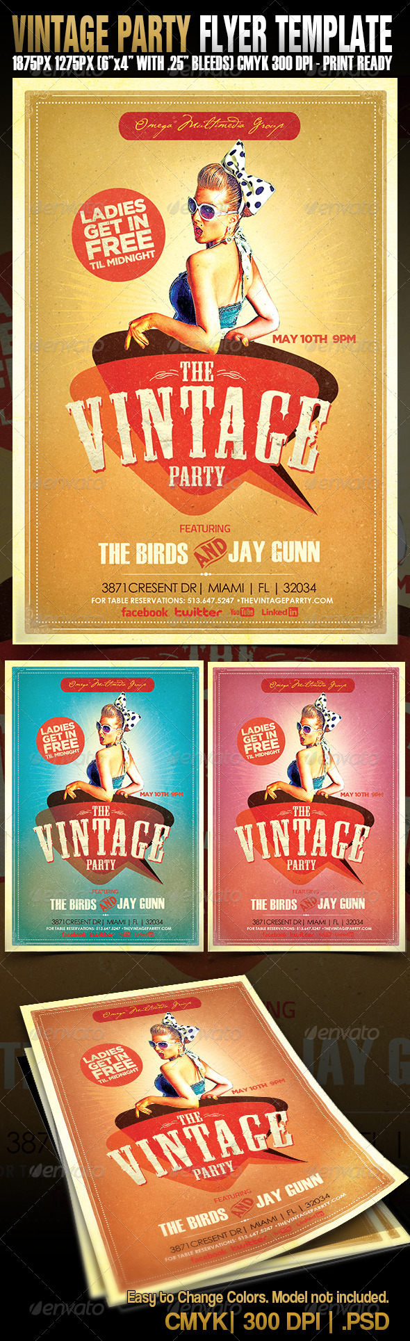 GraphicRiver The Vintage Party 4792441