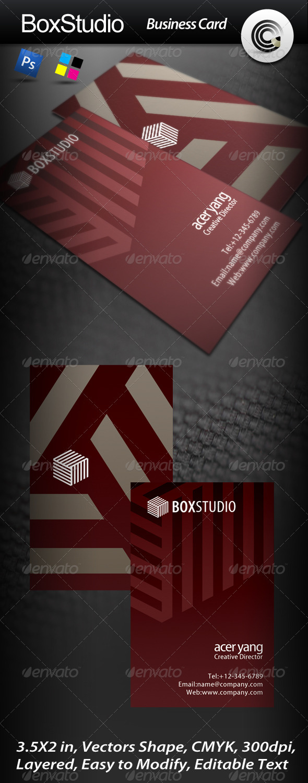 Box Studio Business Card