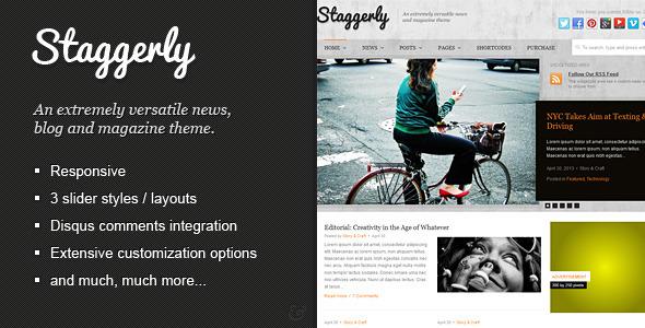 Staggerly – Responsive News, Magazine & Blog Theme (Blog / Magazine) images