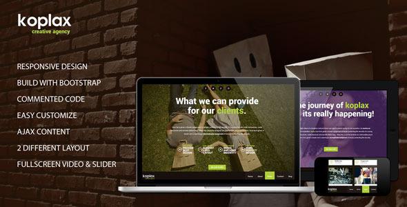 ThemeForest Koplax Responsive Portfolio HTML5 4792749