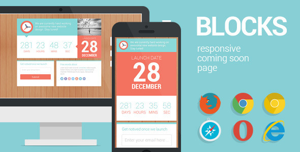 ThemeForest Blocks Responsive Coming Soon page 4792871