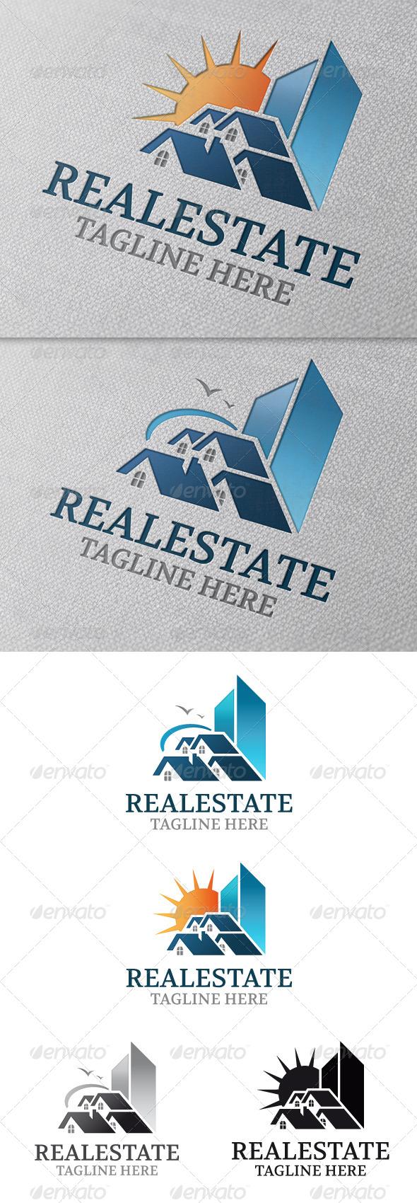 GraphicRiver Real Estate Modern Logo Template 4792886