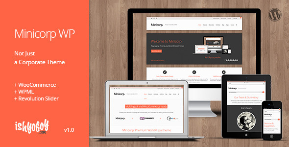 ThemeForest Minicorp WP Not Just a Corporate Theme 4772976