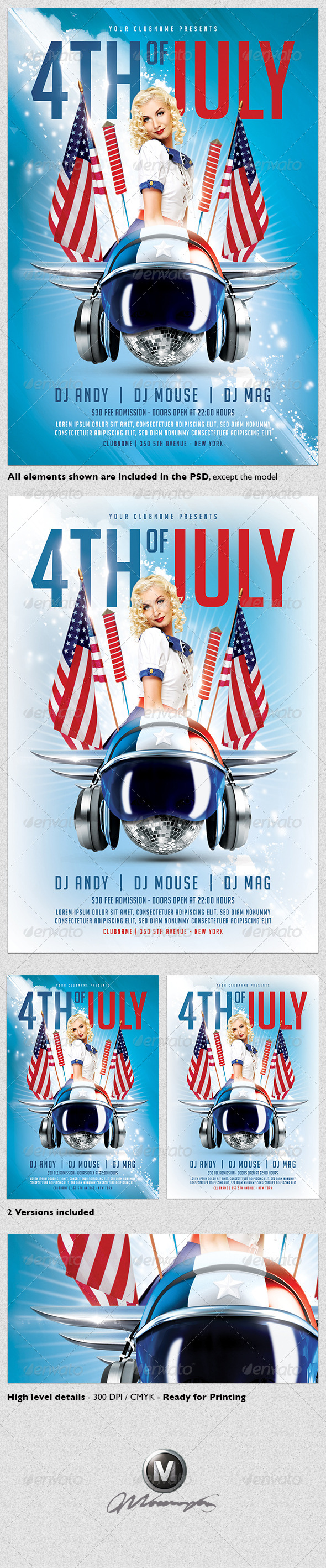 GraphicRiver 4th of July Flyer Template 4793465