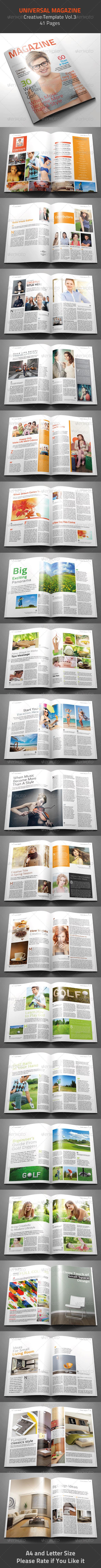 GraphicRiver Universal Magazine Template 4793470