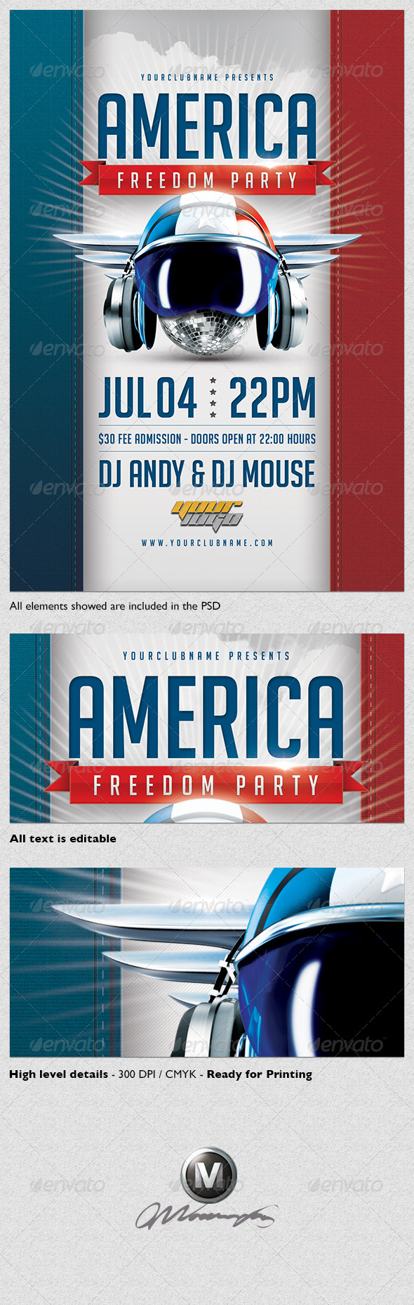 GraphicRiver America Freedom Flyer Template 4793624