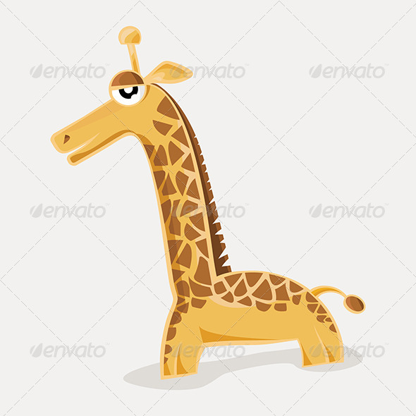 Comic Cute Giraffe