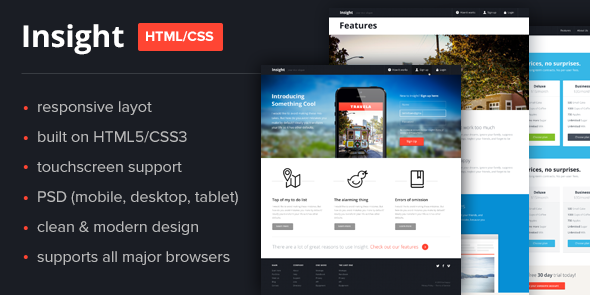 Insight Responsive HTML Template