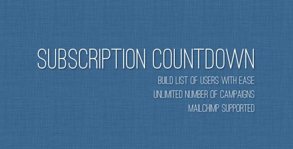 CodeCanyon Subscription Countdown 4794206