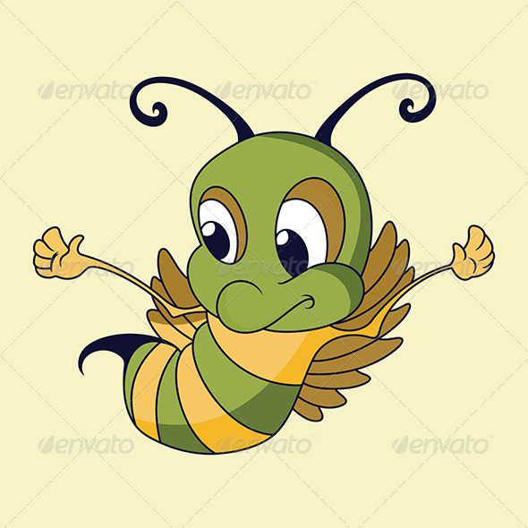GraphicRiver Flying Honey Bee 4794260