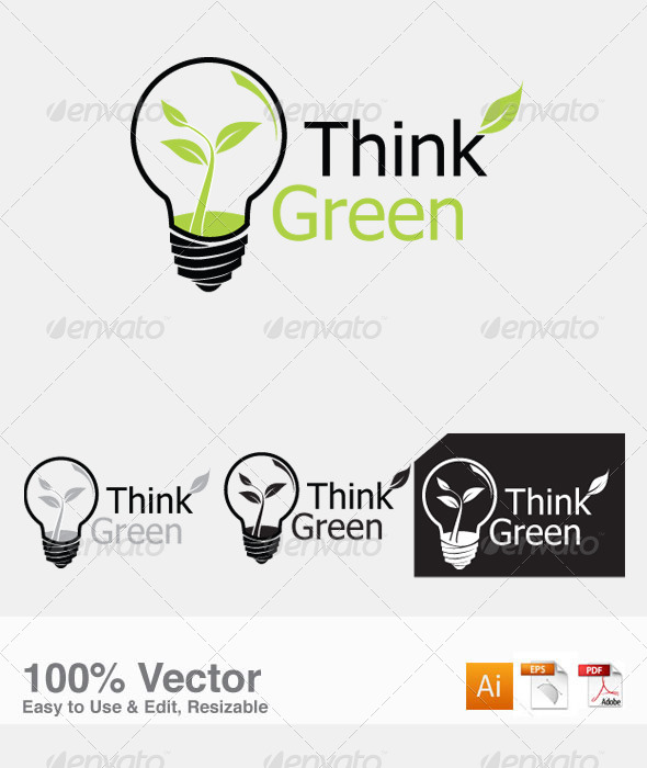 GraphicRiver Think Green Logo Template 4773365