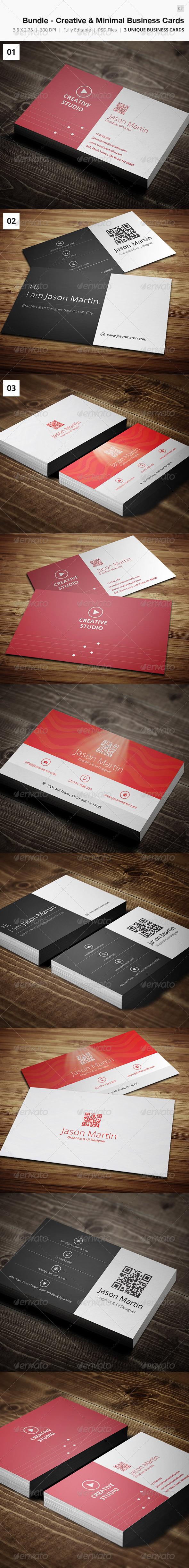 GraphicRiver Bundle Creative & Minimal Business Card 07 4794334