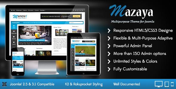 ThemeForest Mazaya Responsive Joomla News Multipurpose Theme 4794339