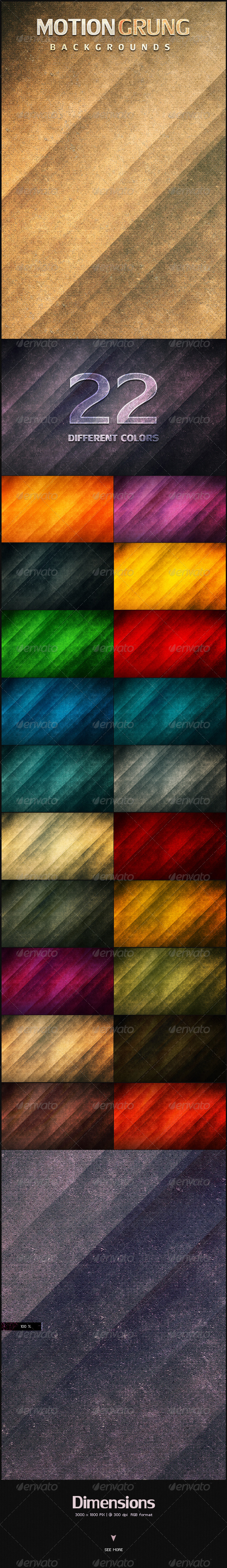 GraphicRiver Motion Grunge Backgrounds 4794371