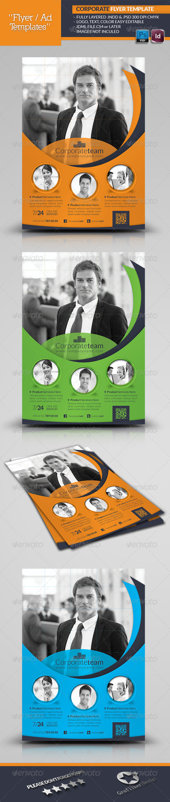 GraphicRiver Corporate Flyer Template 4794525