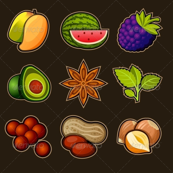 GraphicRiver Set of Fruit Icons 4794526
