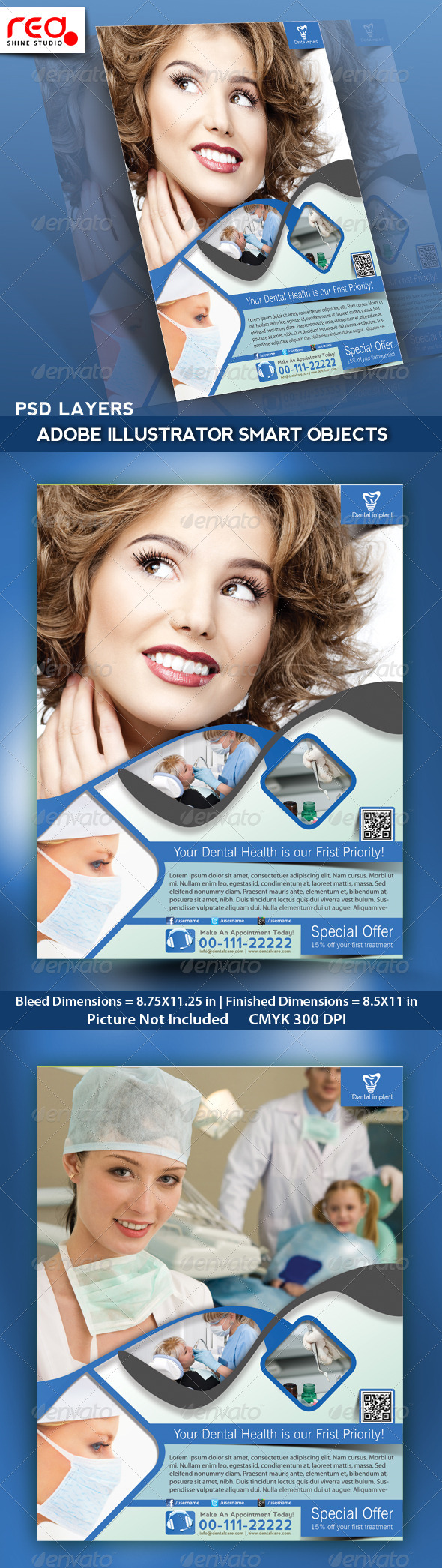 GraphicRiver Dental Flyer Poster & Magazine Template 4794708