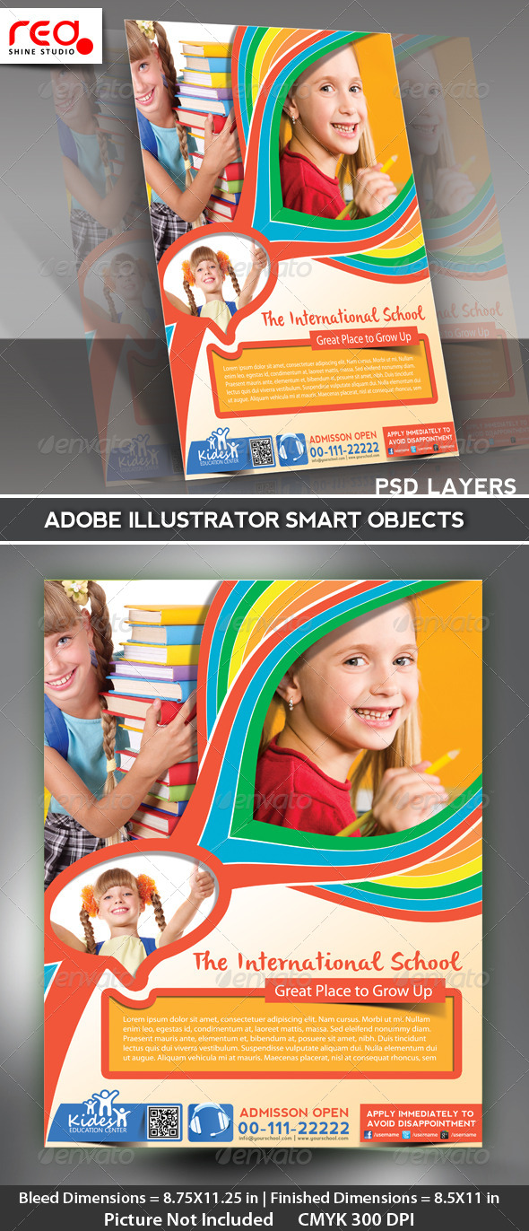 Kid s School Promotion Flyer Poster Template