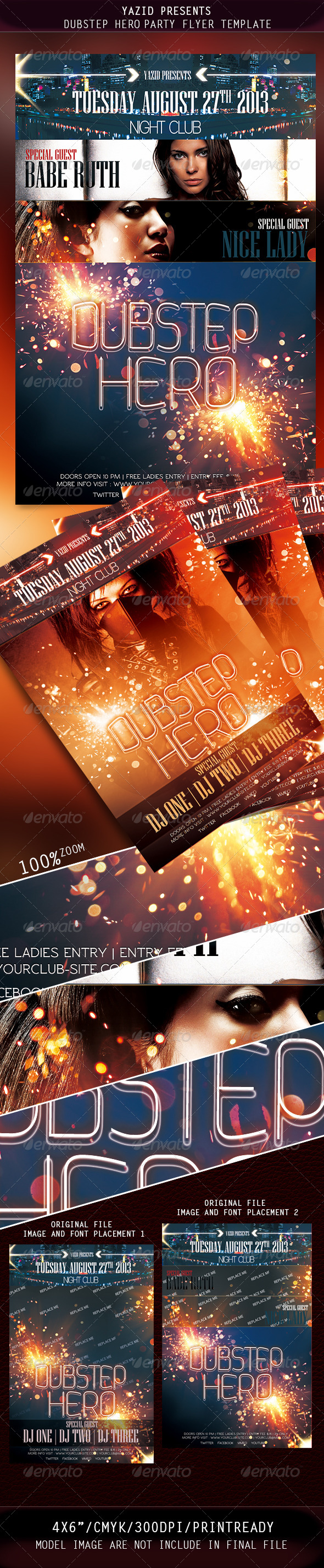 GraphicRiver DubStep Party Flyer Template 4794822
