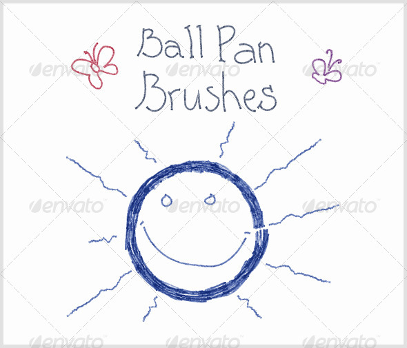 GraphicRiver Ball Pen Brushes Vector 4794961
