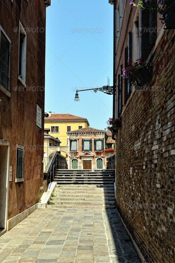 Street in Venice. - Stock Photo - Images