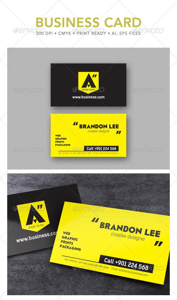 GraphicRiver Design Studio Business Card 4795498