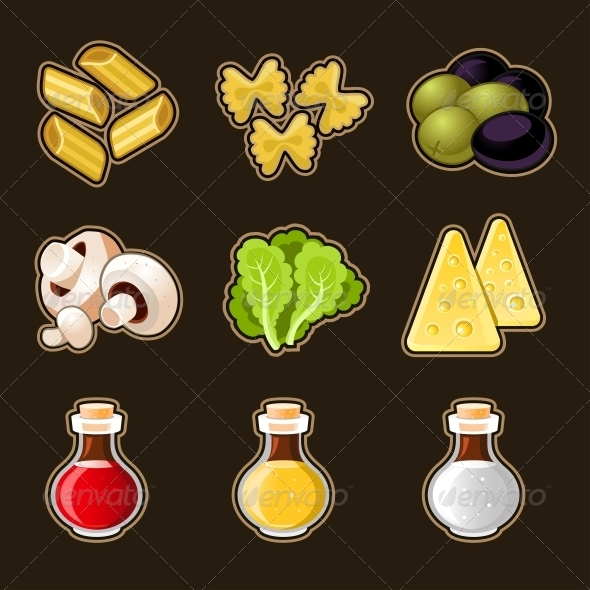 GraphicRiver Italian Food Icon Set 4795615